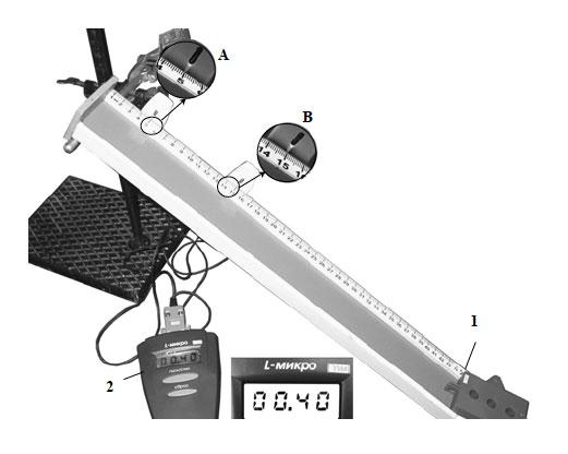 На рисунке представлена фотография установки для исследования скольжения